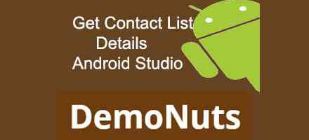 get contact list details android studio programmatically, contact list details android kotlin