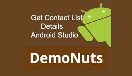 Contact List Details Android Kotlin Programmatically