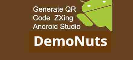 Generate QR Code Using Zxing Android