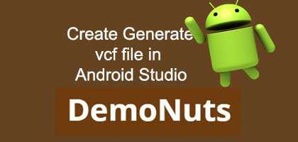 generate vcf file android studio programmatically