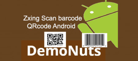 scan barcode and qrcode using zxing android