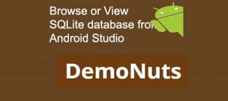 browse or view SQLite database in Android