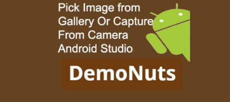 pick image from gallery or camera in android