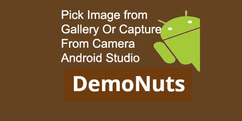 Pick Image From Gallery Or Camera In Android Studio