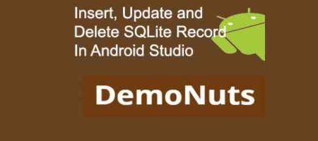 crud operations in sqlite in android