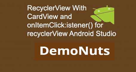 RecyclerView Android With CardView Example Tutorial Material