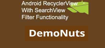 android recyclerview searchview