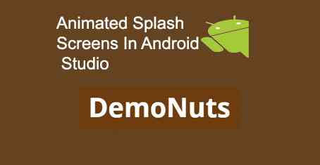 Android Splash Screen Animation Animated Attractive Landing Screen