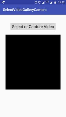 Android Pick Video From Gallery Or Camera Programmatically