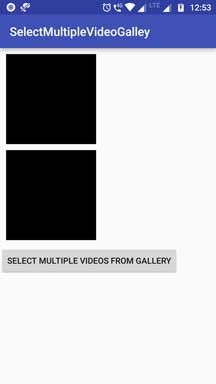 Android Select Multiple Video From Gallery Programmatically