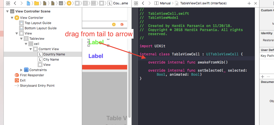 Custom UItableview cell swift iOS Example Tutorial